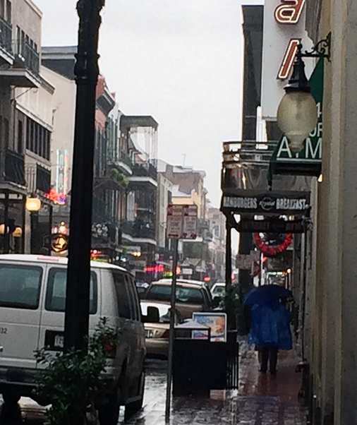 Bourbon Street in the Rain